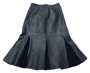 Other Vintage Suede Skirt Navy Blue