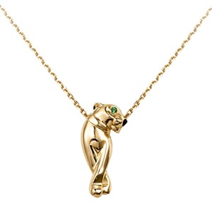 Cartier Cartier 18K Yellow Gold Onyx Tsavorite Garnet Diamond NecklaceB7221900