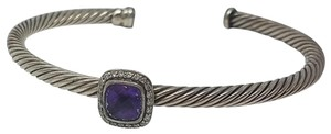 David Yurman Sterling silver David Yurman Cable purple amethyst diamond cuff