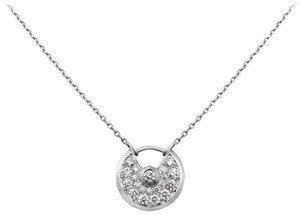 Cartier Amulette de Cartier 18K White Gold Diamond Necklace B3047300