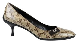 Gucci Crystal Heel 317043 Beige/Ebony Pumps