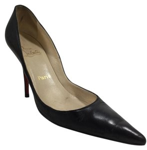 Christian Louboutin Leather Black Nappa Pumps