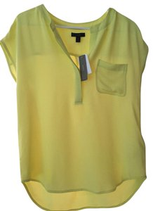 J.Crew Silk Work Top Bright Citrus Yellow