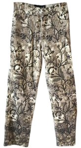 Just Cavalli Floral Printed Bling Straight Leg Jeans