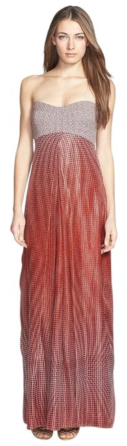 Item - Multicolor Adrianna Mixed Media Gown Long Formal Dress Size 8 (M)