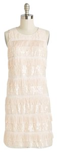 Eliza J Flapper Sequin Fringe Dress