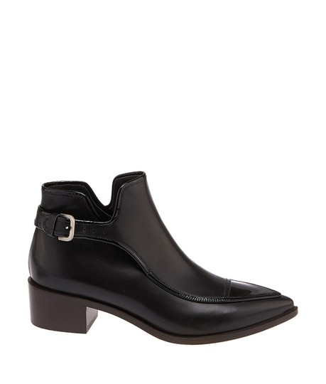 Chanel Women's Leather Buckle Ankle New Black Boots