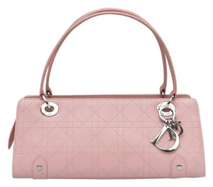 Dior Clutch Cannage Cannage Tote in Pink