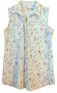 Merona Button Down Shirt Pink, blue, white