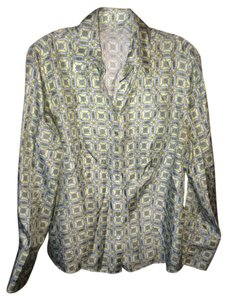 Ann Taylor Button Down Shirt Green