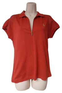 Ralph Lauren Collar Golf Top red