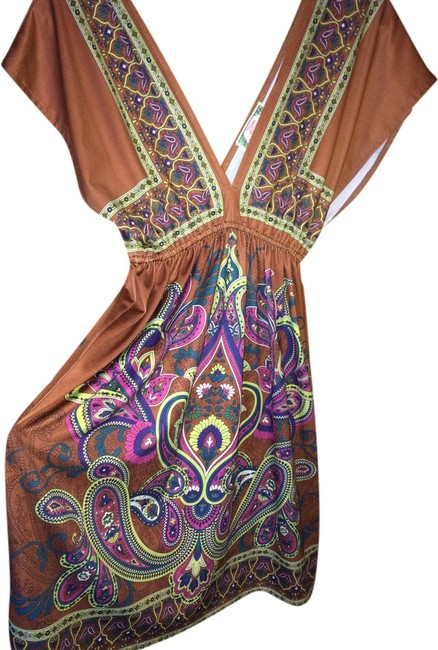 Brown Maxi Dress by Flying Tomato