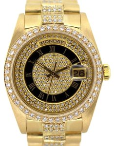 Rolex MEN'S ROLEX DAY-DATE 18K GOLD PRESIDENT DIAMOND WATCH