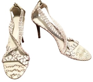 Burberry Stiletto Sandal Snakeskin Ivory Sandals