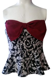 A'gaci BLACK, CREAM, BURGANDY Halter Top