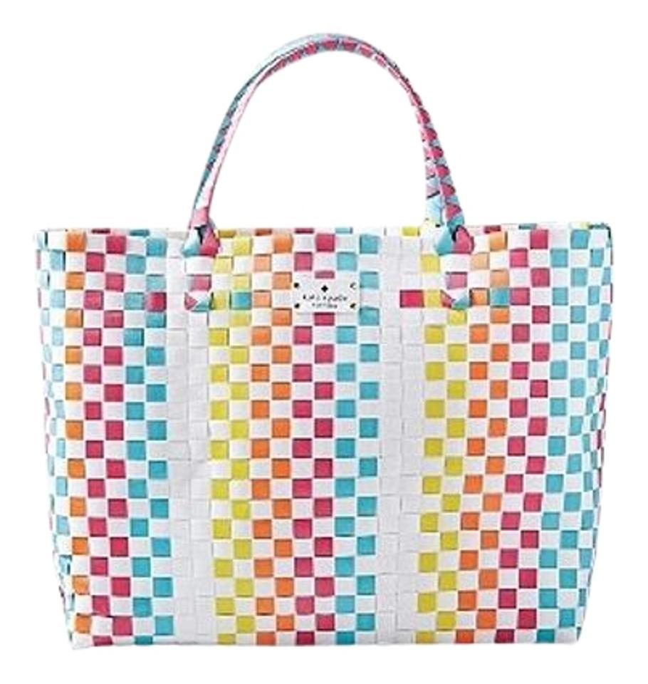 e602c6987 Kate Spade Women s Tote Summer Multi Color Beach Bag …