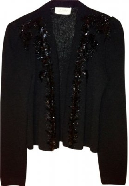 Preload https://img-static.tradesy.com/item/15552/st-john-black-beaded-knit-jacket-cardigan-size-10-m-0-0-650-650.jpg