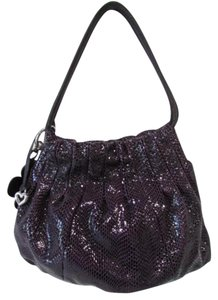 Brighton Shoulder Textured Satchel in Purple
