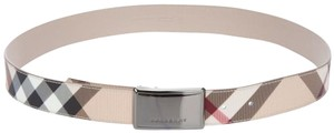 Burberry BURBERRY CHECK LEATHER BELT