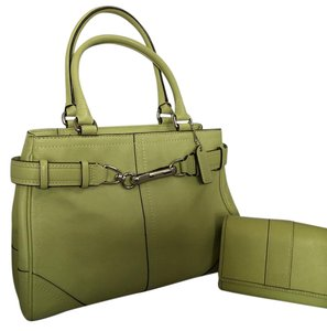 Coach Hampton Carry All Satchel in Light Lime Green