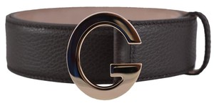 Gucci New Gucci Women's 362732 Brown Textured Leather G Buckle Belt 32 80