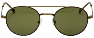 John Varvatos NEW! Renwick Leather Aviator Sunglasses (Olive)