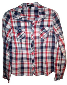 Forever 21 Western Style Button Down Shirt Plaid