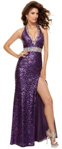 Paparazzi Prom Slit Halter Dress