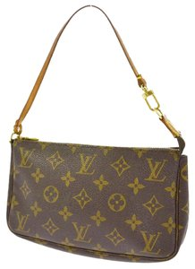 Louis Vuitton Lv Accessories L V L V Pochette Wallet Wristlet in Brown