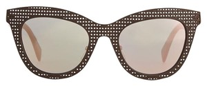 Marc by Marc Jacobs NEVER BEEN WORN Laser-Cut Cat-Eye Sunglasses, Brown