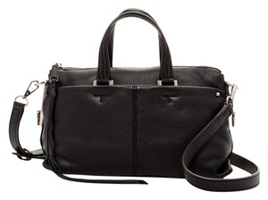 Rebecca Minkoff Pebbled Shoulder Satchel in Black