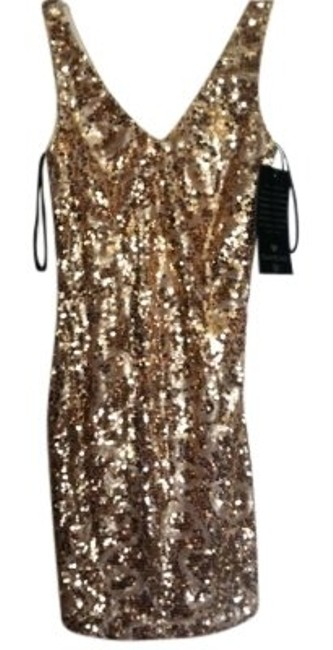 Preload https://item2.tradesy.com/images/bebe-gold-sequins-tan-spandex-above-knee-night-out-dress-size-4-s-155536-0-0.jpg?width=400&height=650