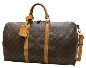 Louis Vuitton Keepall Travel Stock1008893399 Brown Travel Bag