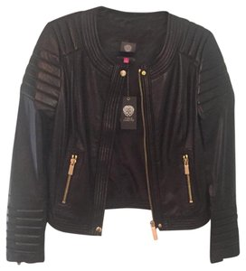 Vince Camuto Rich Black Leather Jacket