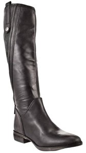 Sam Edelman Riding Leather Black Boots