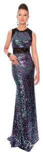 Precious Formals Prom Sequins Lace Dress