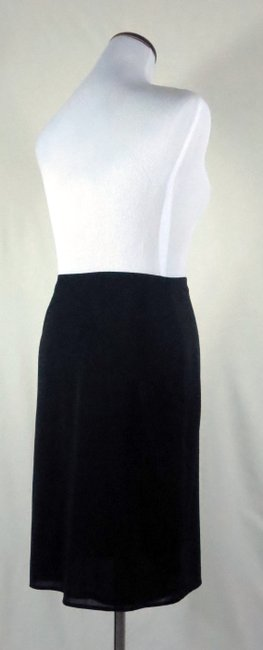 The Limited Lined Stretch Career/Club/Casual Classic A Line Skirt Black