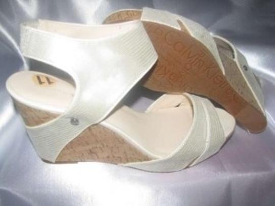 Calvin Klein Off White Wedges