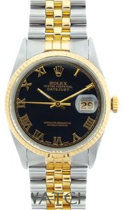 Rolex MEN'S ROLEX DATEJUST 2-TONE WATCH WITH ROLEX BOX & APPRAISAL