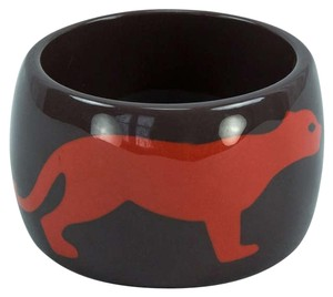 Mid Century Large Panther Cuff Bracelet in Celluloid Galalith