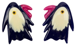 A Pair of Celluloid Parrot Brooch Pins