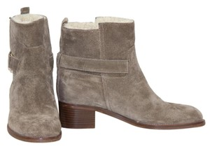 J.Crew Ankle Boot Suede Shearling Taupe Boots