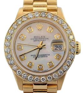 Rolex Ladies Datejust Presidential 18K Gold Watch with Rolex Box & Appraisal