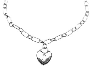 Tiffany & Co. Authentic Vintage Tiffany & Co. Silver Heart Key Hole Lock Charm Bracelet 7.5