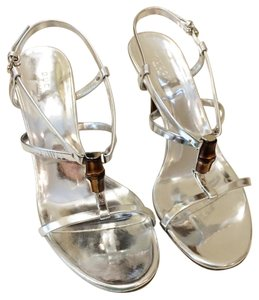 Gucci Sandal Silver Metallic Sandals