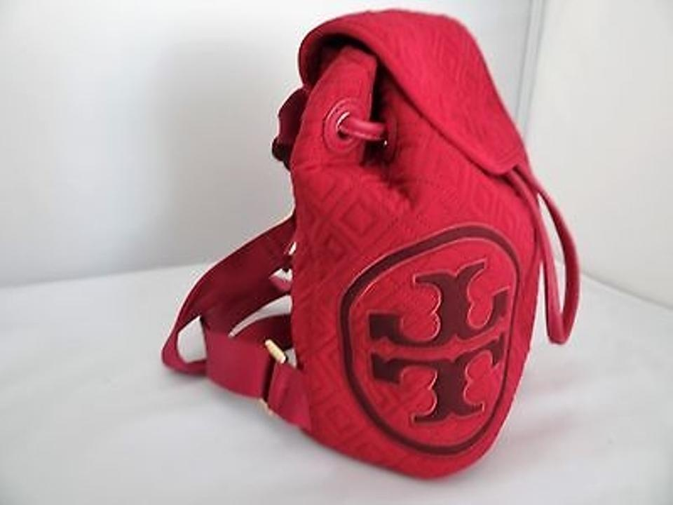 1fb36b5967da Tory Burch Marion Quilt Mini Raspberry Qulited Nylon Backpack - Tradesy