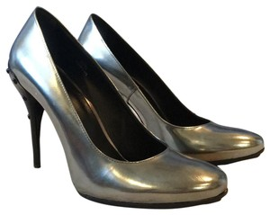 Tod's Silver Pumps