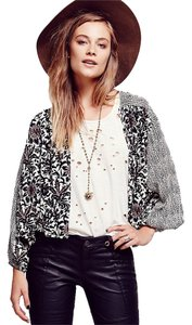 Free People Printed Balloon Black/White Jacket