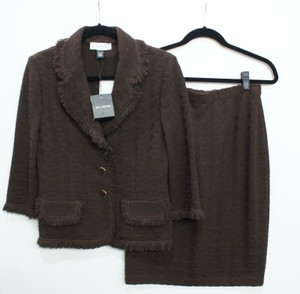 St. John St. John Collection Brown Skirt Suit