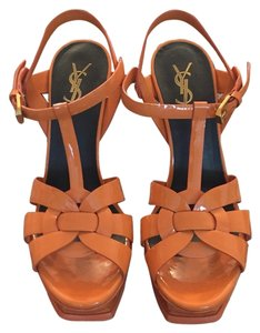Saint Laurent Orange Platforms